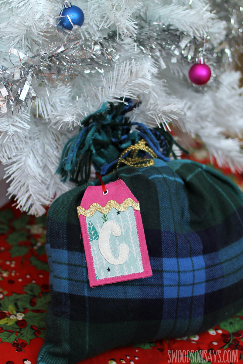 scarf as gift wrapping reusable