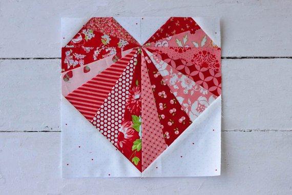 Heart quilt block lori miller designs