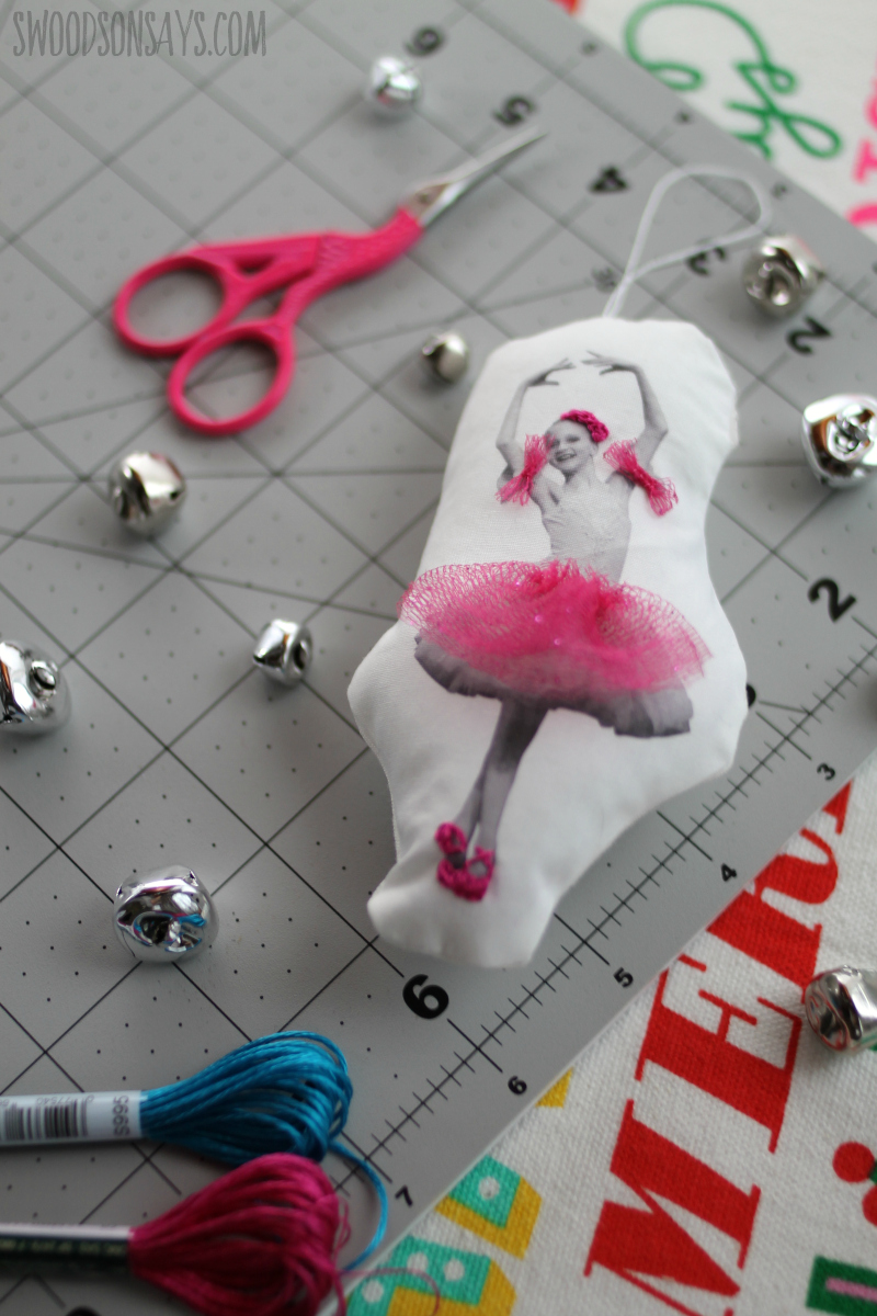 tulle ballerina craft ornament tutorial