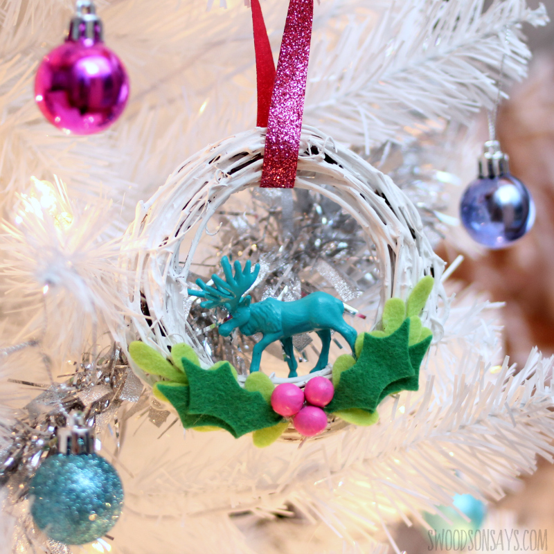 upcycled vintage christmas ornament