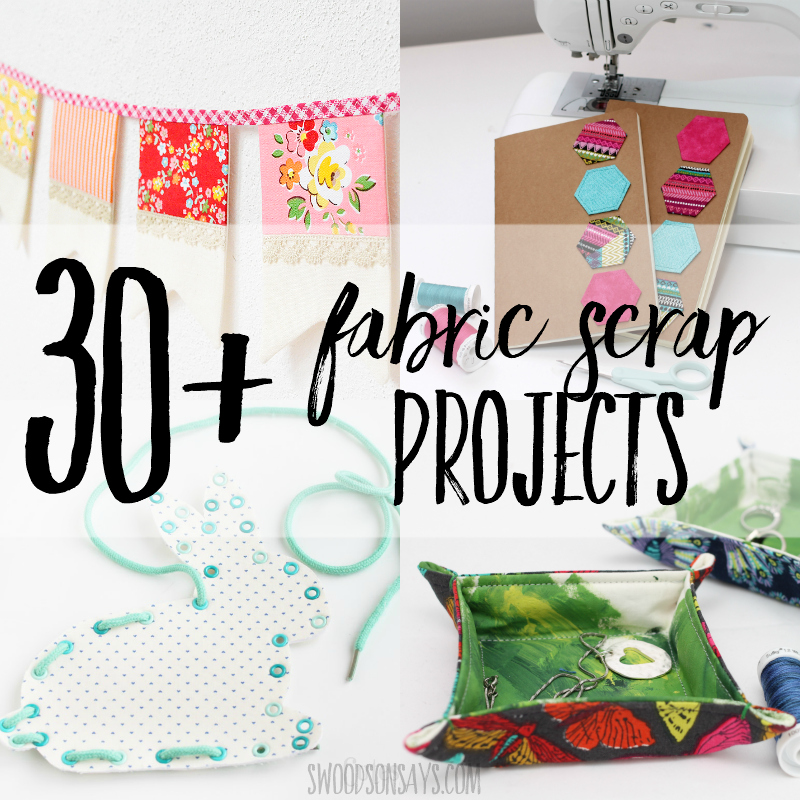 Fresh fabric scrap tutorial round-up