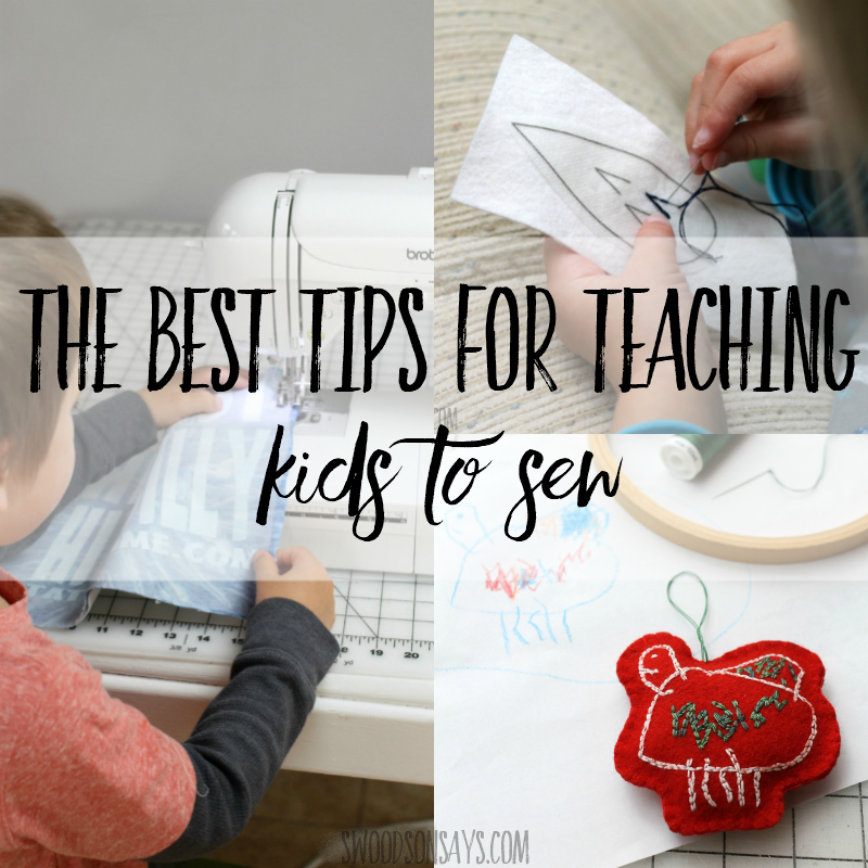 Tips and tricks for teaching kids to sew