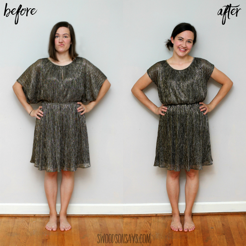party dress refashion