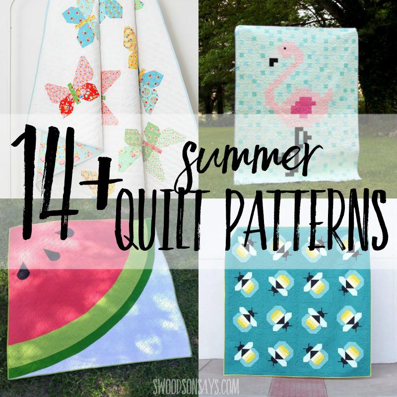 14+ modern summer quilt patterns