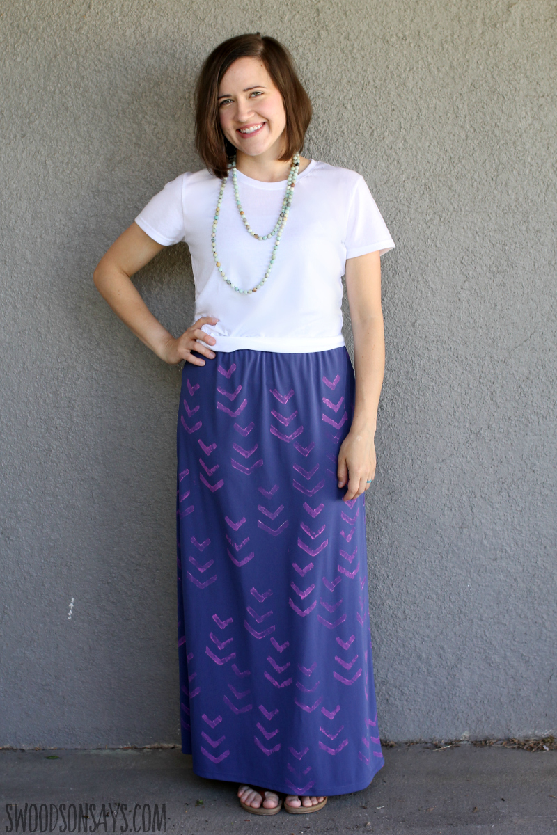 block print skirt diy