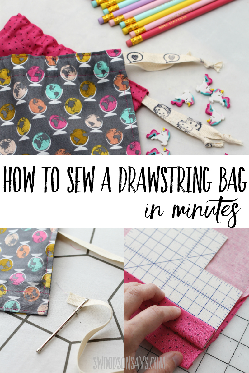 drawstring bag sewing photo tutorial