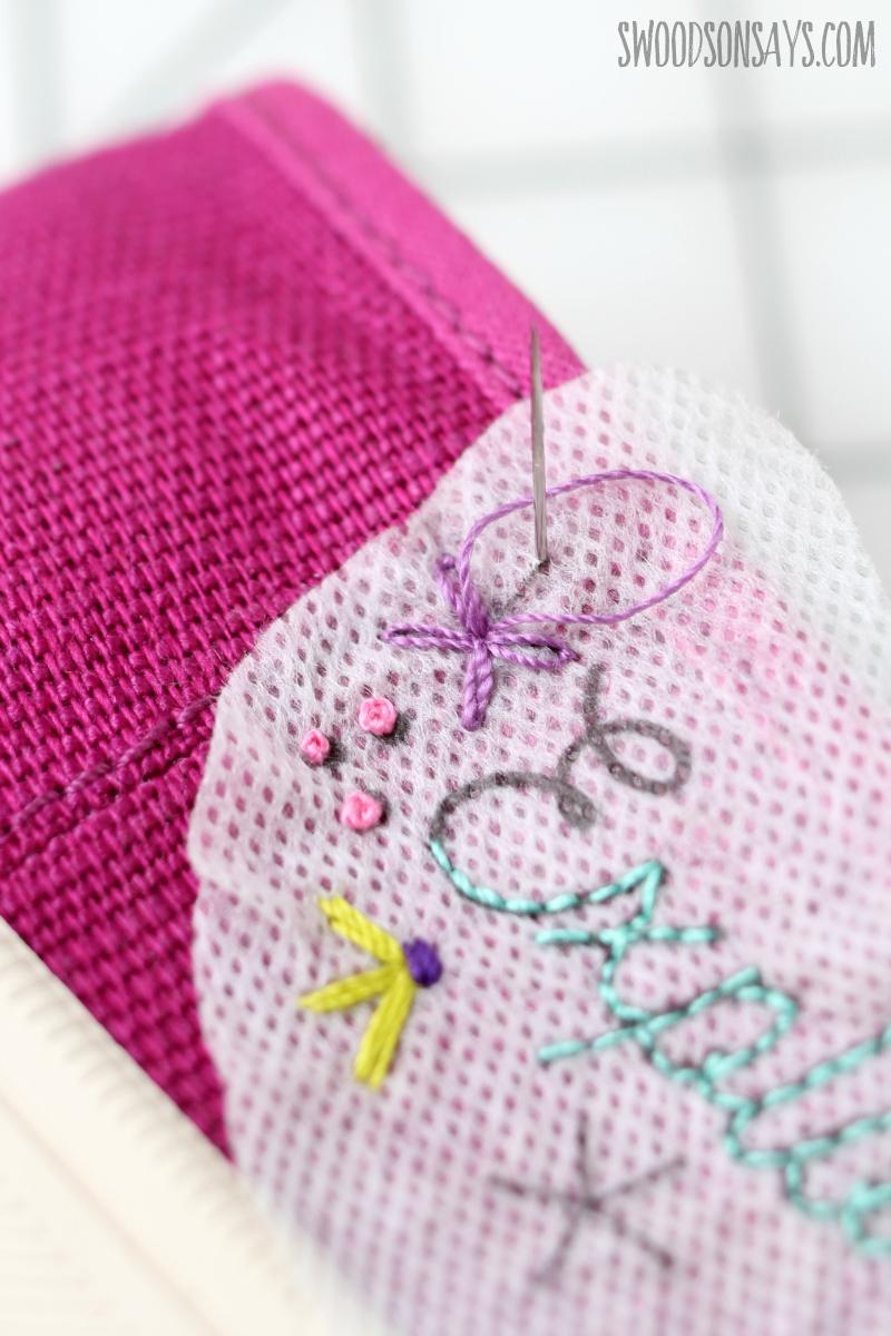 lazy daisy hand embroidery
