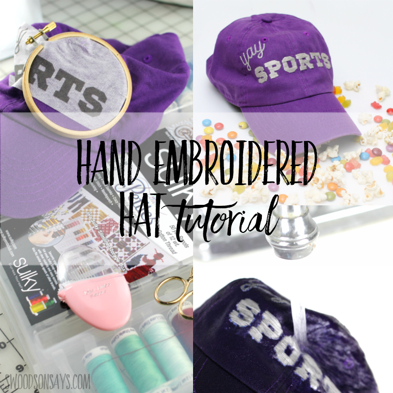 Snarky hand embroidered hat tutorial