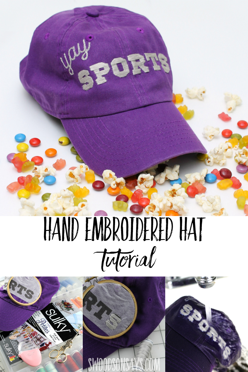 how to hand embroider a hat