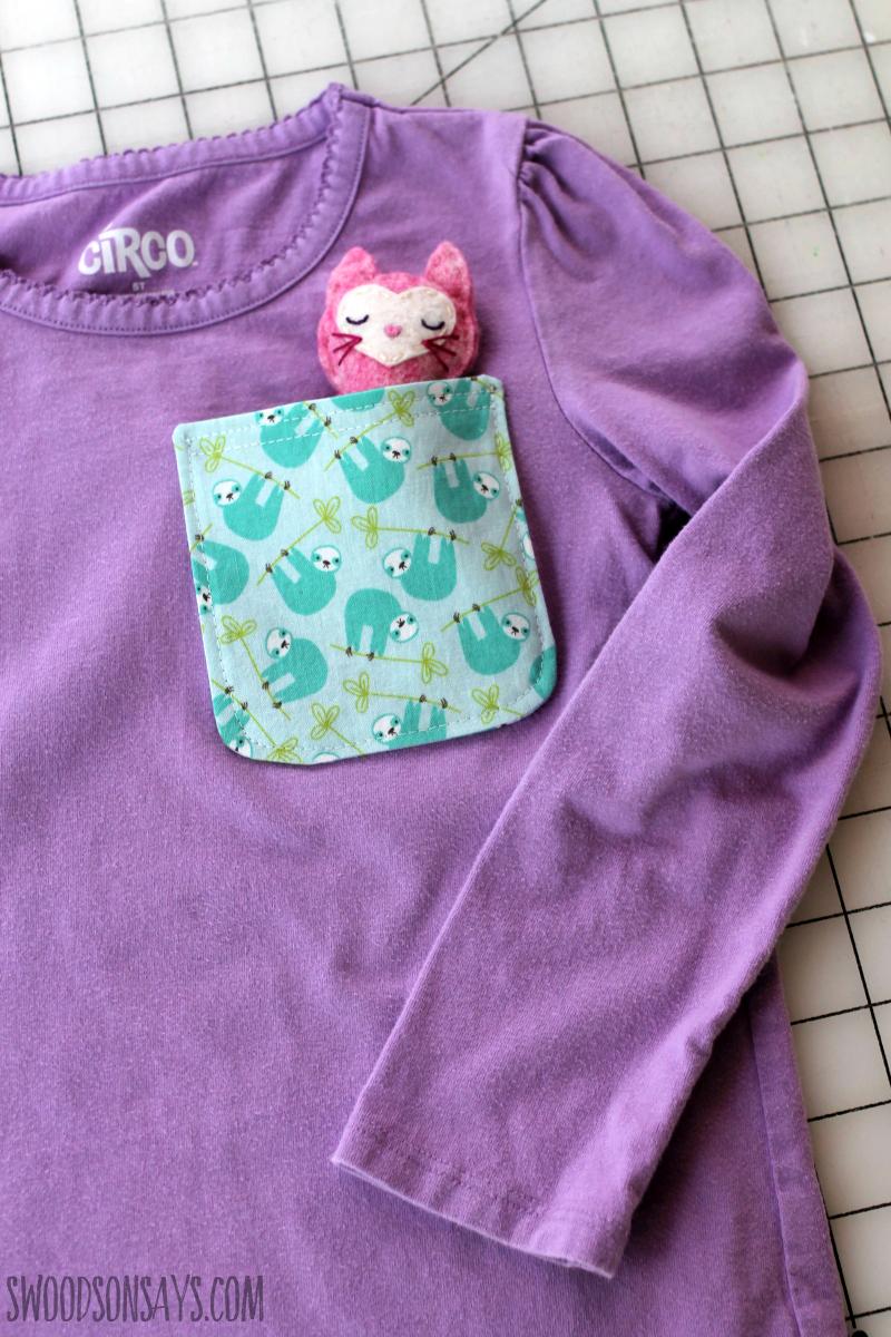 free kids pocket pattern
