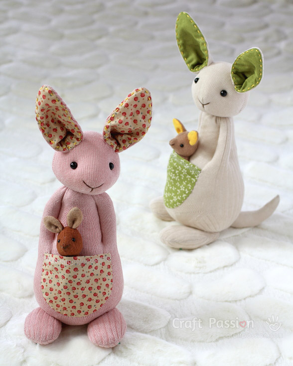 stuffed kangaroo pattern
