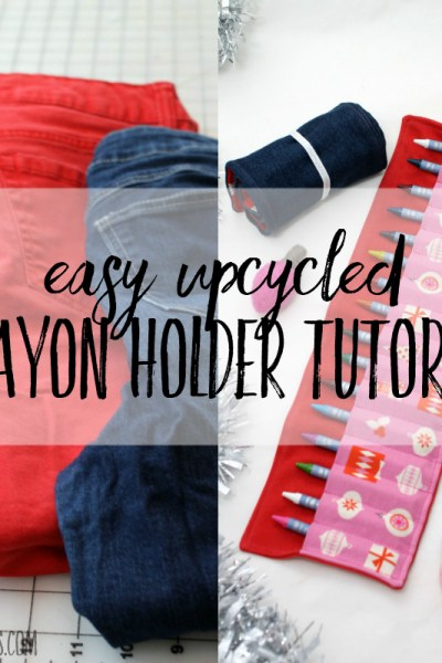 Easy upcycled crayon holder diy tutorial