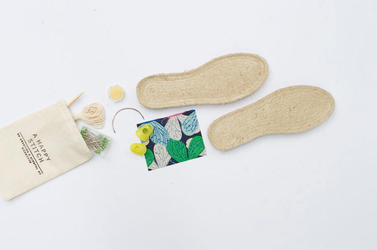 diy espadrille show sewing kit