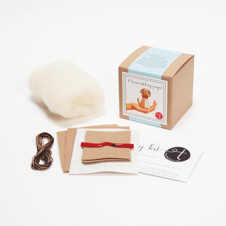 felt dog sewing kit