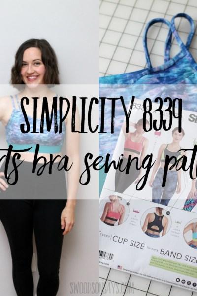 Simplicity 8339 sports bra sewing pattern & some body positivity