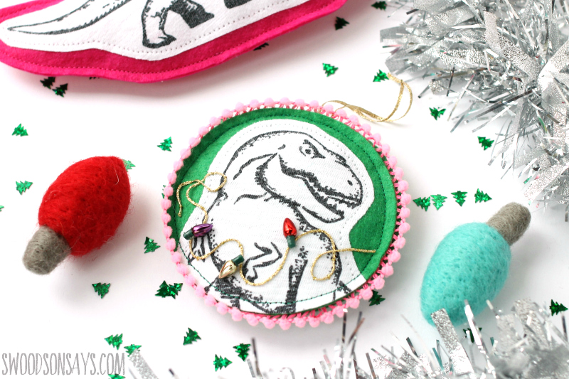 diy trex ornament tutorial