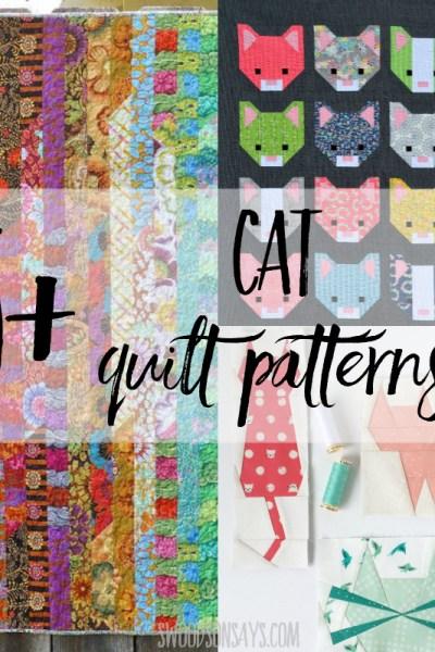 15+ modern cat quilt patterns to sew!