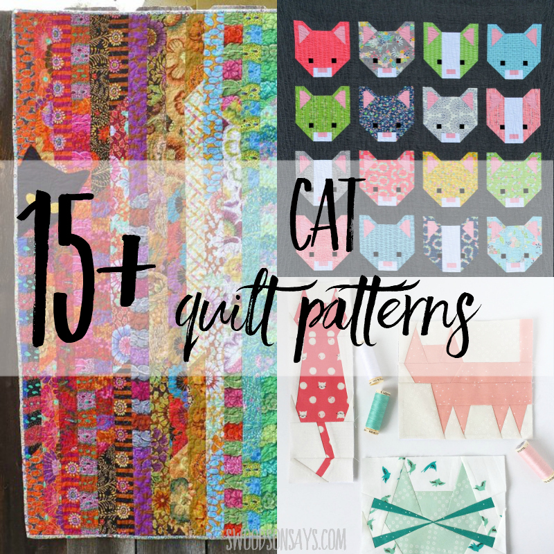 15+ modern cat quilt patterns to sew!
