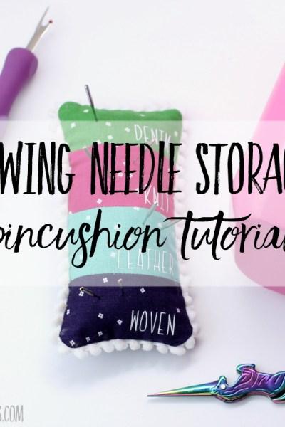 DIY sewing needle storage pincushion tutorial