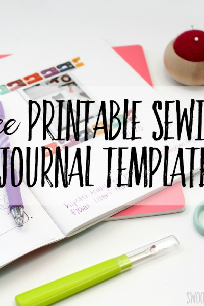 free sewing diary printable