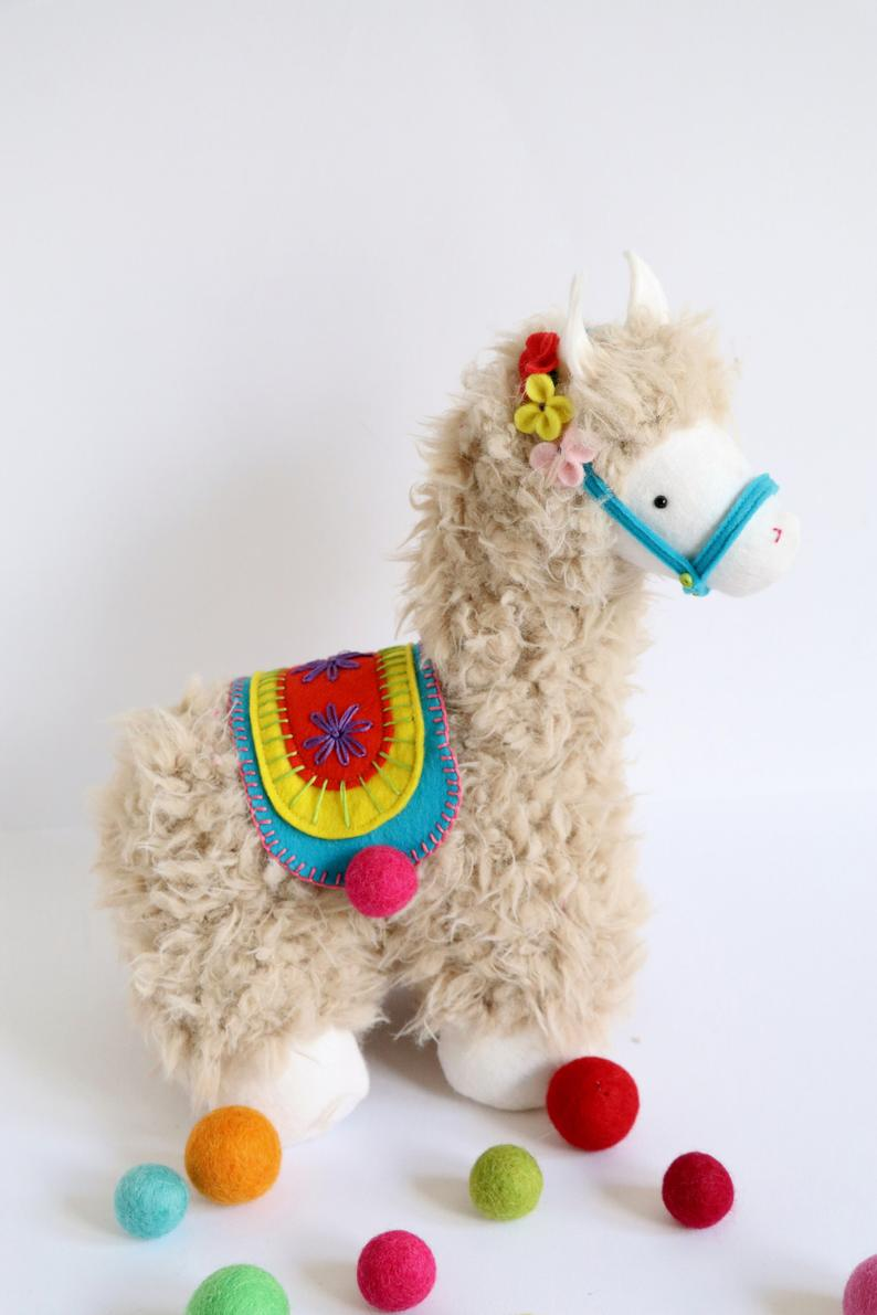llama stuffed animal pattern