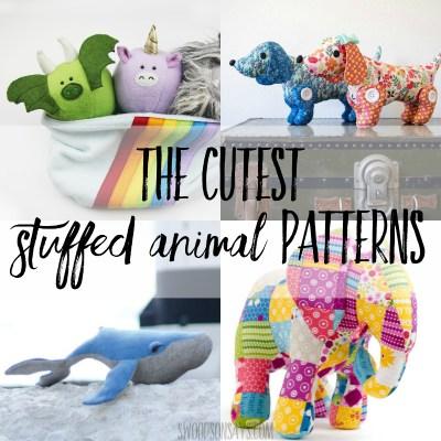 The cutest stuffed animal sewing patterns