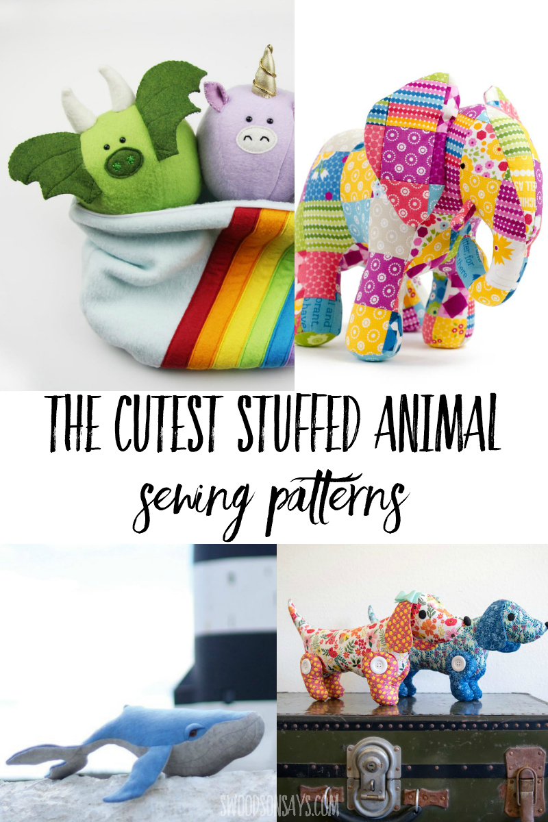 stuffed animal pdf patterns