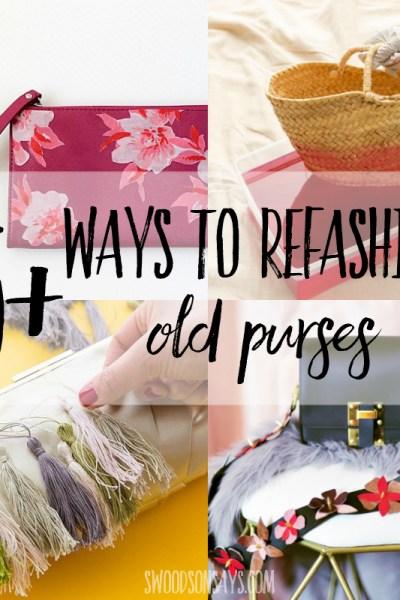 25+ ways to refashion purses & bags