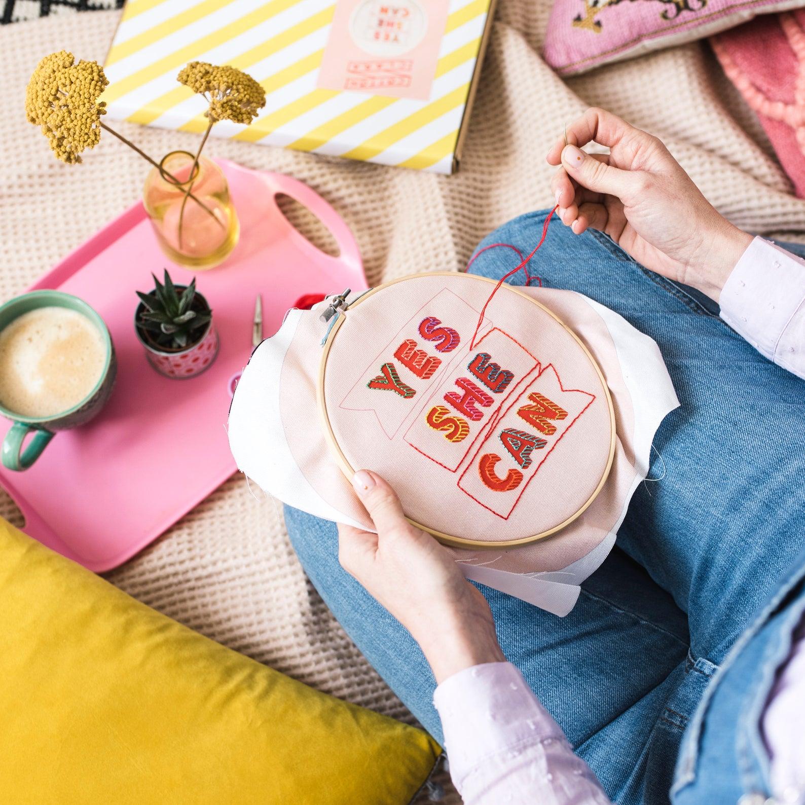motivational embroidery kit