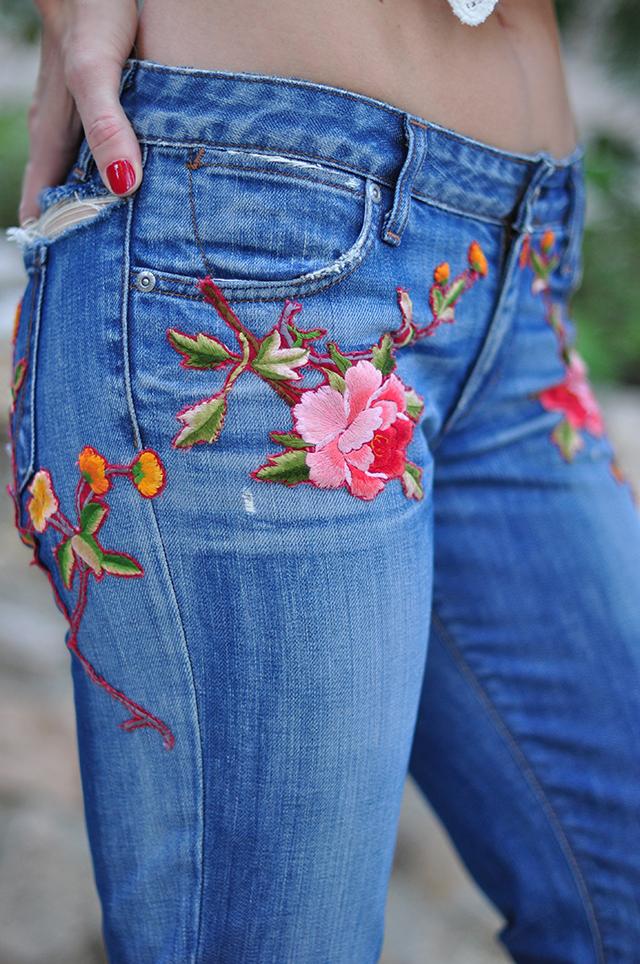 diy applique jeans