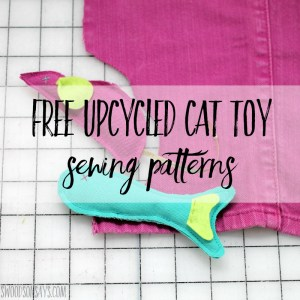 Free diy cat toys - mice and fish sewing patterns