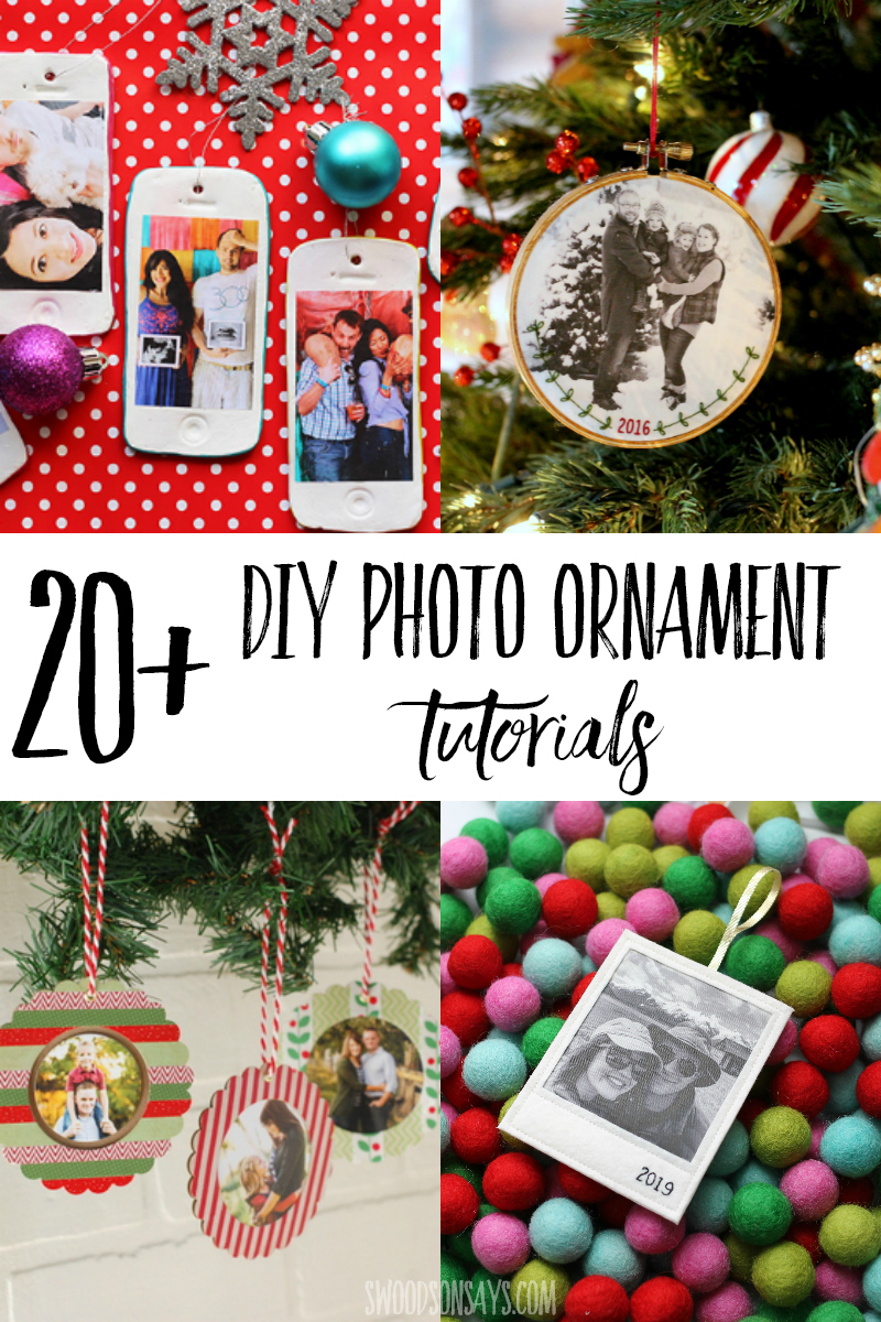 handmade photo ornament ideas