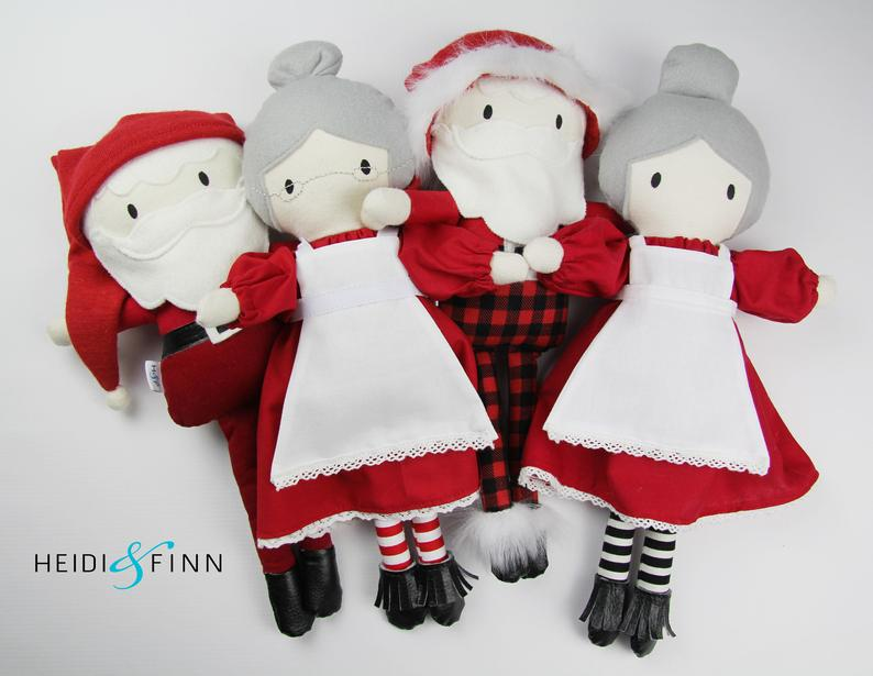 stuffed santa toy sewing pattern