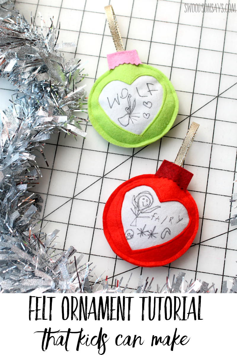 ornament kids can help with free pattern