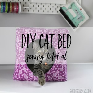 How to make a cat bed - a sewing tutorial