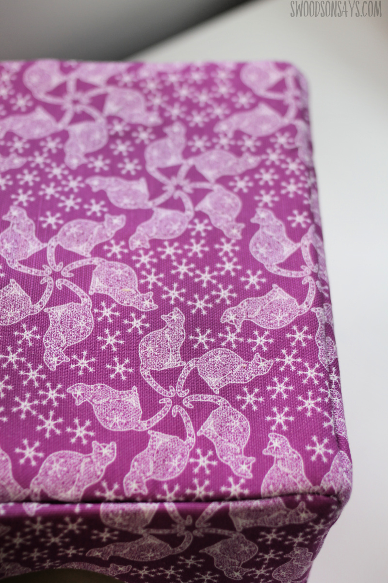 purple lace cat fabric
