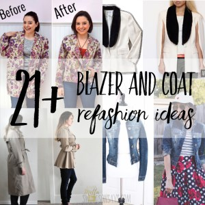 21+ blazer and coat refashion ideas