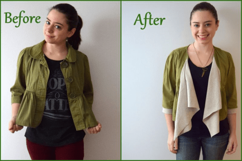 cropped jacket refashion