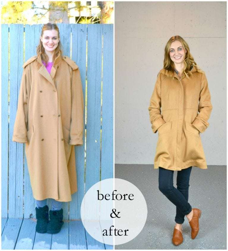 refashion old coat tutorial