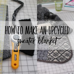 How to make a blanket out of sweaters