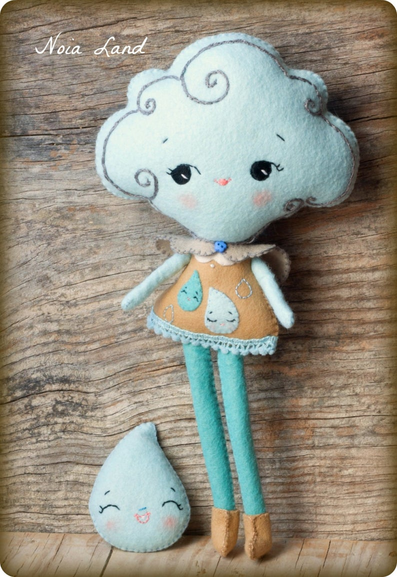 cloud doll sewing pattern