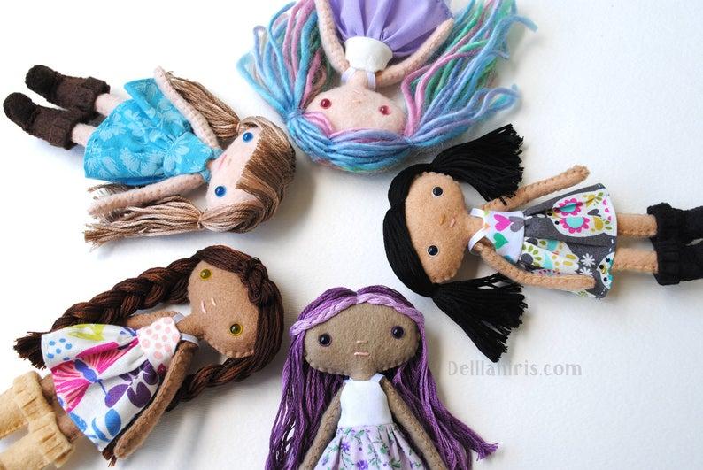 small felt doll pattern