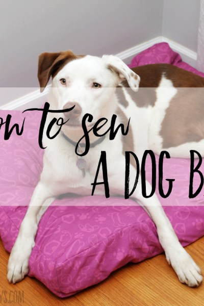 How to sew a dog bed with sides