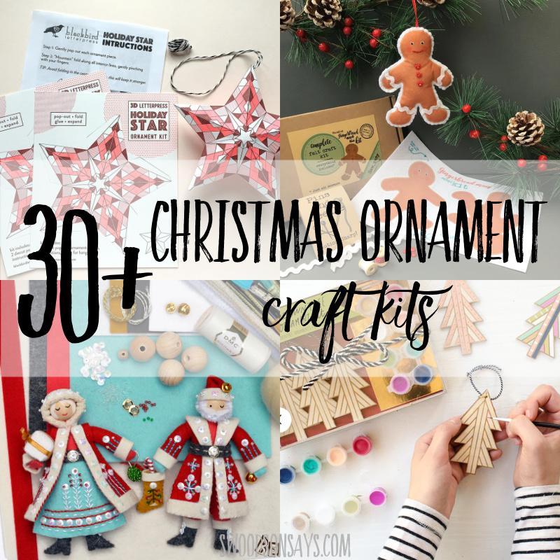 christmas ornament craft kits