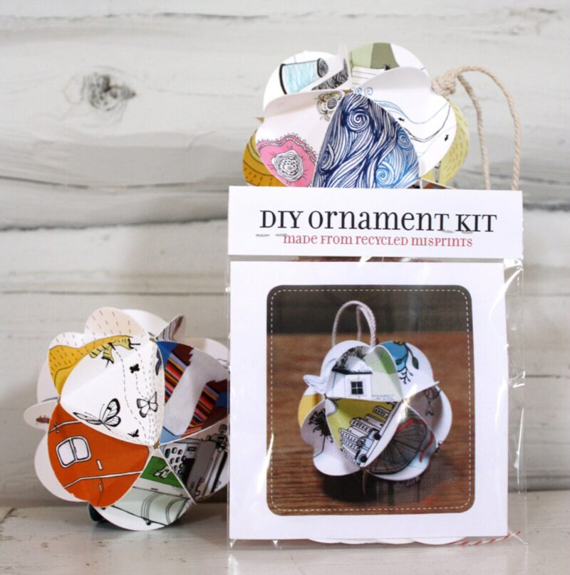 upcycled paper ornament kit