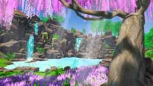 VR Environment Waterfall
