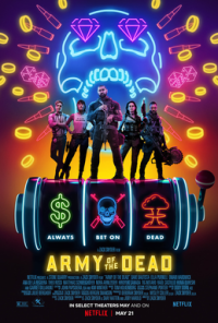 Vividly coloured poster for Army of the Dead