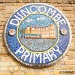 Duncombe Primary School plaque - mosaic + clay
