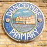 Duncombe Primary School plaque - mosaic + clay
