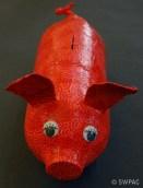 plastic bottle piggy bank by Sylvia